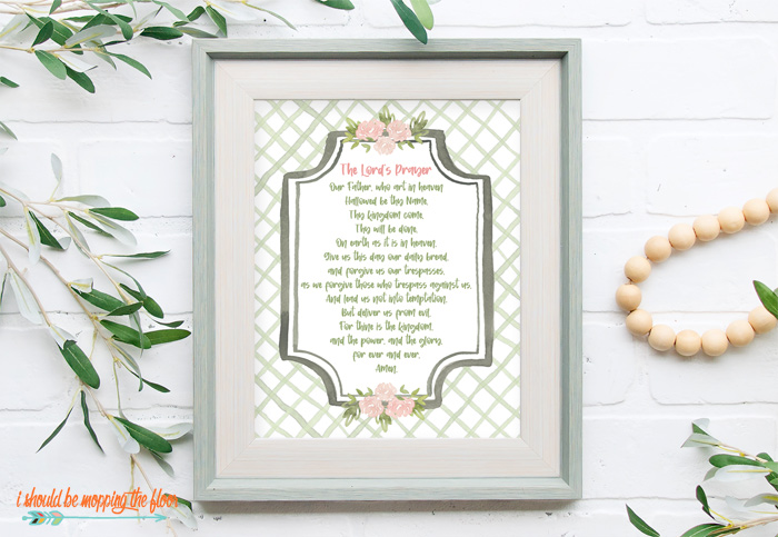 Free Printable of The Lord's Prayer