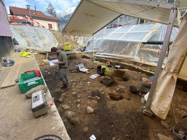 5700 year old settlement unearthed in Upper Valais, Switzerland