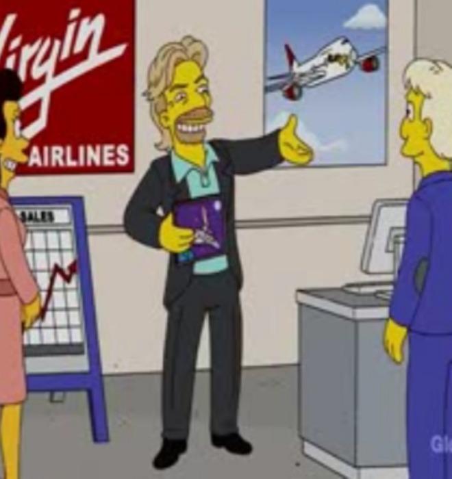 Los Simpson predijeron viaje al espacio de Richard Branson