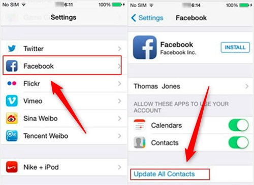 Sync Facebook Contacts Iphone