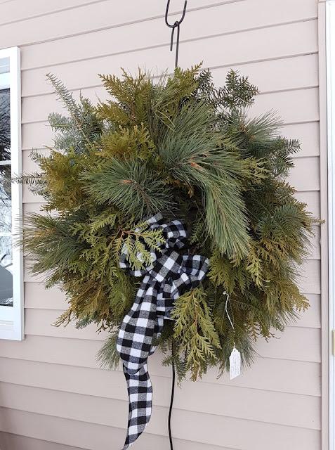 pine and cedar Christmas wreath