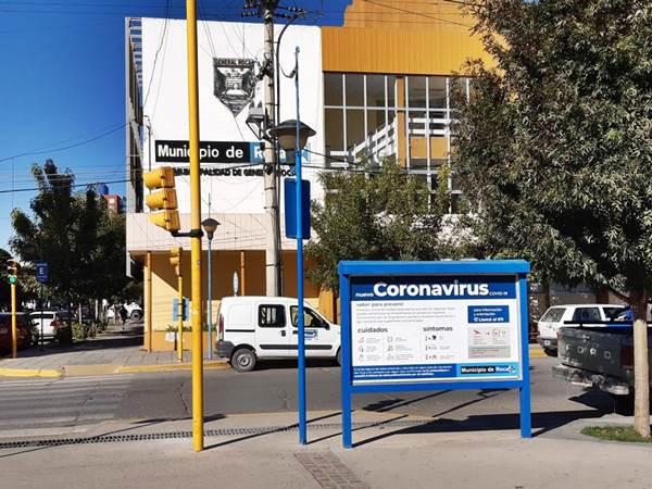 Desinfectaran la Municipalidad de Roca por posibles casos de coronavirus. También se aislara a trabajadores