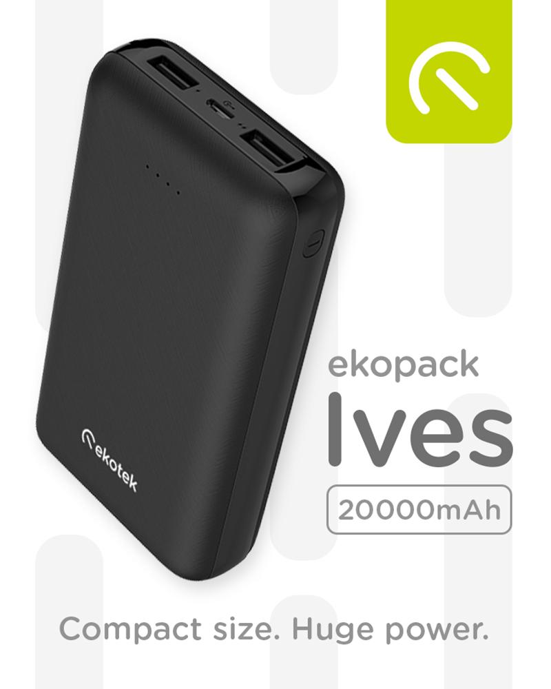 Ekotek releases Ekopack Ives 20,000mAh compact power bank