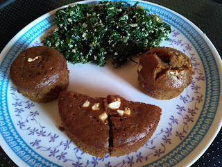 Homemade whole wheat cake, Ponnaanganni Greens poriyal