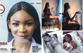 Miss Ambassador For Peace contestant goes nude (18+Photos)