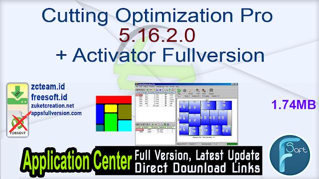 Cutting Optimization Pro 5.16.2.0 + Activator Fullversion