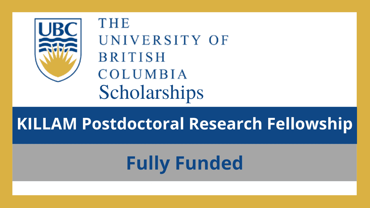 زمالة كيلام لأبحاث ما بعد الدكتوراه 2022 كندا