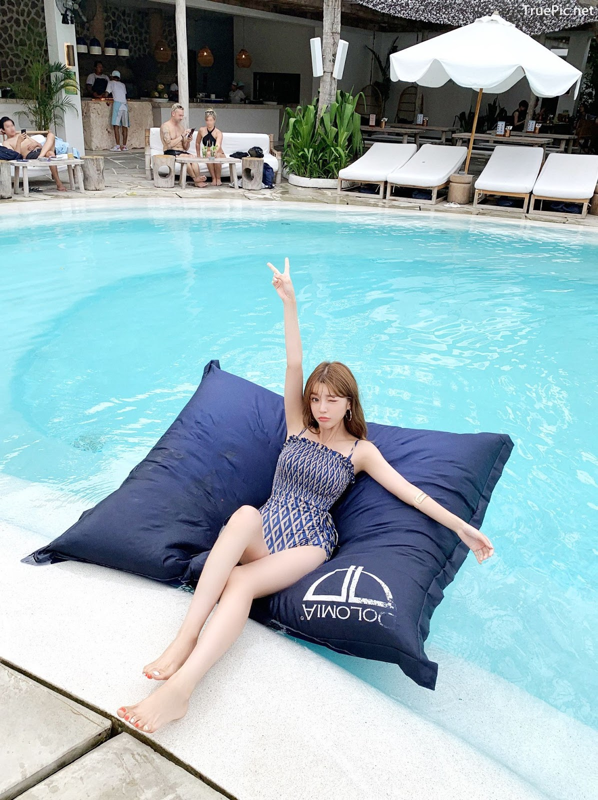 Image Korean Fashion Model - Cha Yoo Jin - Diamond Smoke Monokini - TruePic.net - Picture-3