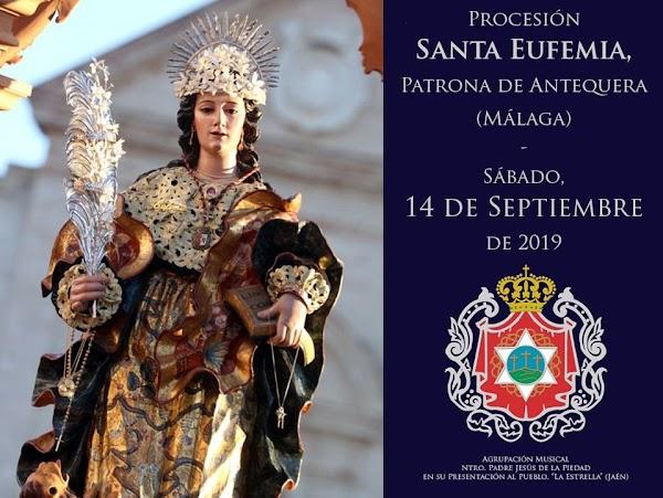 AM La Estrella de Jaen pondrá la música en la Procesión de Santa Eufemia en Antequera