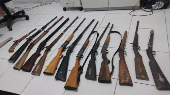 Polícia Civil apreende 13 armas de fogo em Boquim