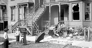 Damage from Chicago race riot, 1919