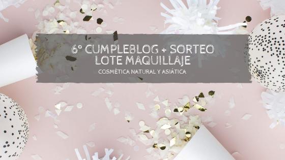 6º CUMPLEBLOG - SORTEO LOTE MAQUILLAJE