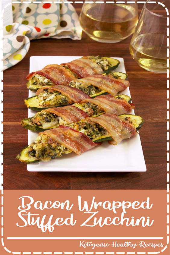 This is the absolute best way to eat zucchini from Delish Bacon Wrapped Stuffed Zucchini