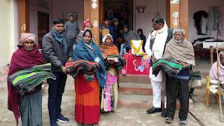Jaunpur : प्रधान गीता देवी ने गरीबों में बाटा कम्बल