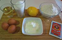 Bizcocho de yogur y limón.