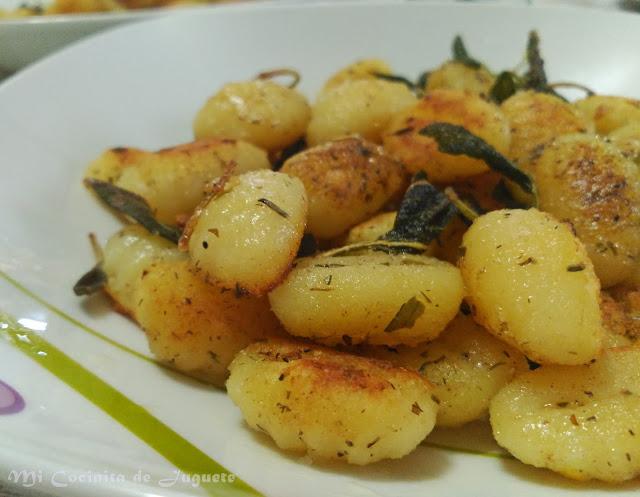 Gnocchi con Salvia y Estragón