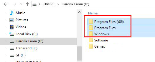 Cara Menghapus Folder Bekas Instalasi Windows