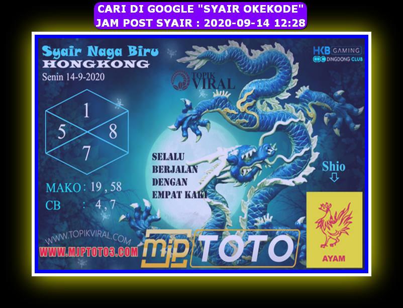 Kode syair Hongkong Senin 14 September 2020 304