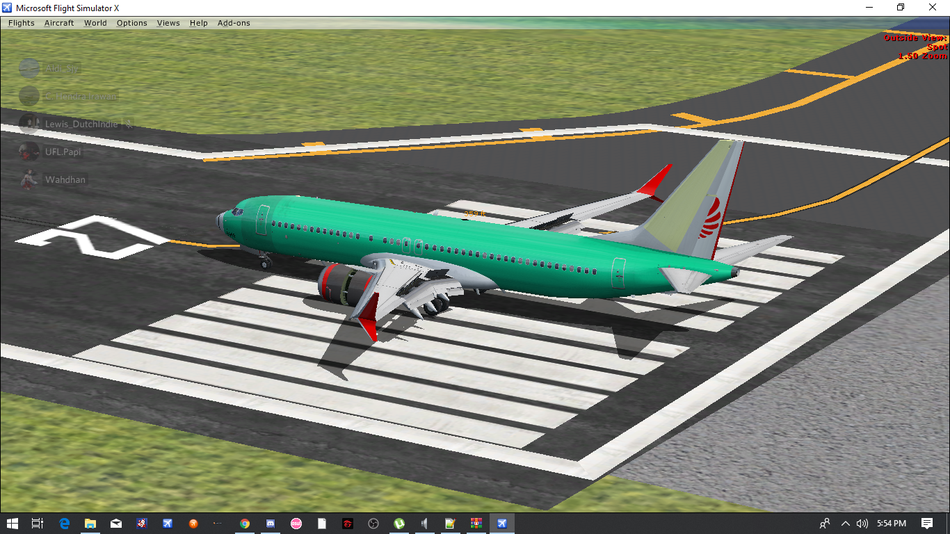 FSX] Unpainted aircraft Boeing 737 Max 8 Lion Air [Texture Only