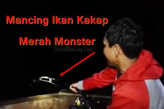 Mancing Ikan Kakap Merah Monster Tekong Bang Sam Keren Abis