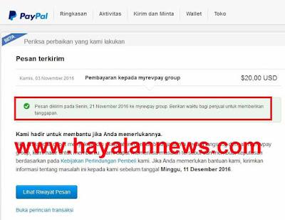 Cara dispute rekening paypal dari situs penipuan