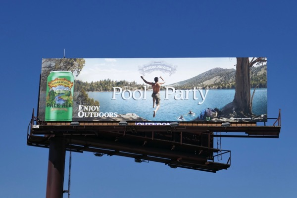 Sierra Nevada Pale Ale Pool party billboard