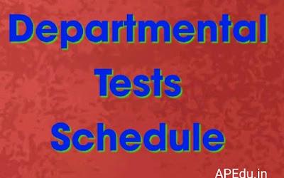 Departmental Tests Schedule