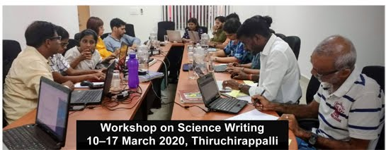 Workshop on Science Writing @ Thiruchirappalli image