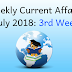 Weekly Current Affairs July 2018: 3rd Week