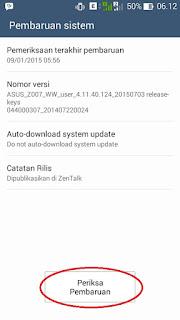 Begini Cara Melakukan Update Zenfone C ke Lollipop Tanpa PC