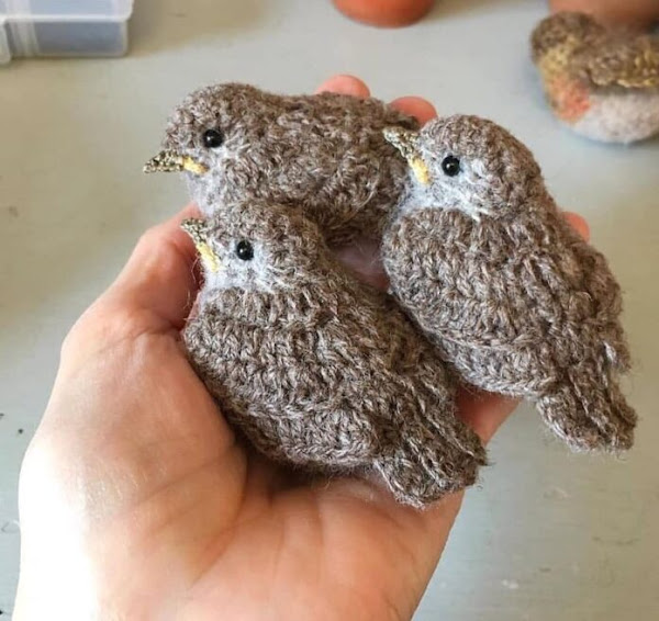 Crochet sparrow Bird. Interesting Realistic bird pattern. Pattern free