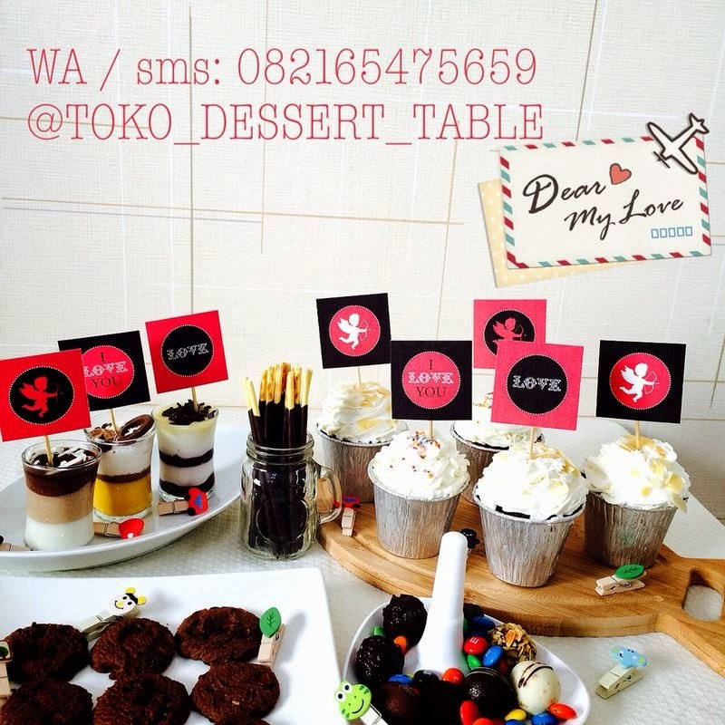 Toko Dessert Table Cupcake Topper