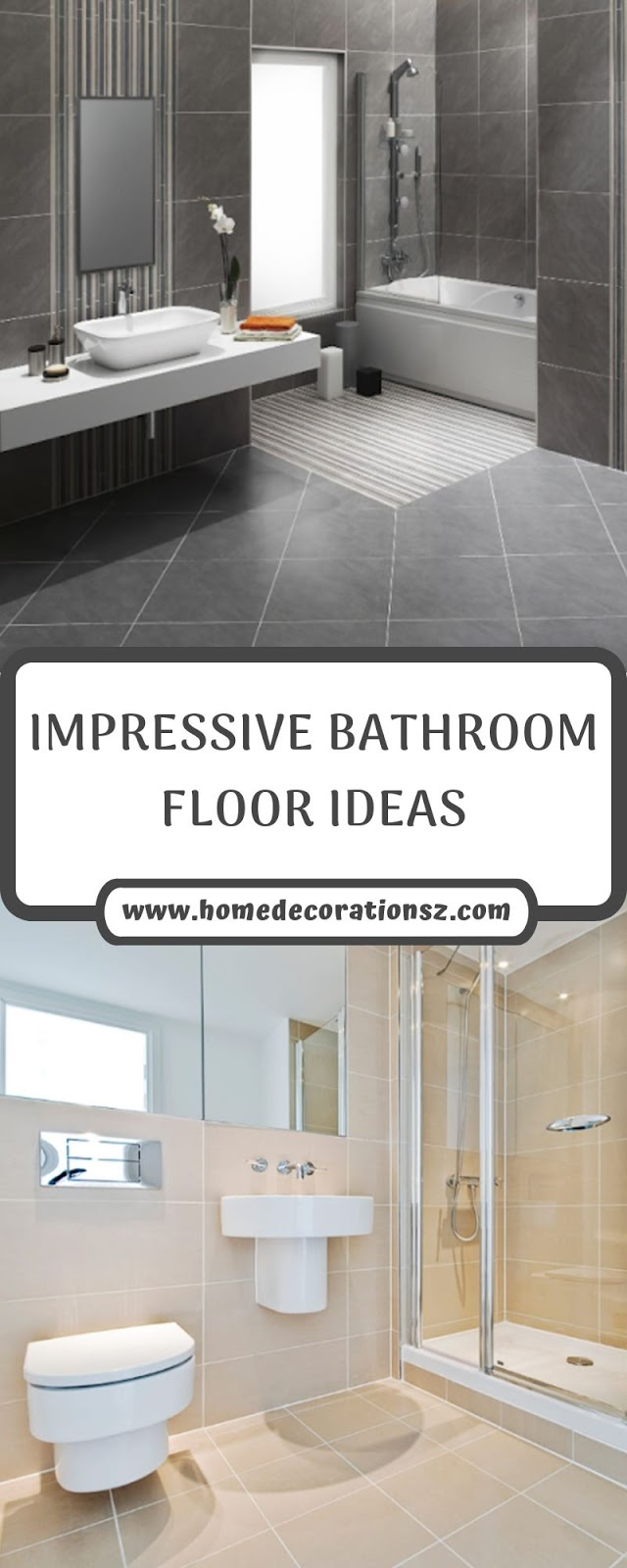 IMPRESSIVE BATHROOM FLOOR IDEAS