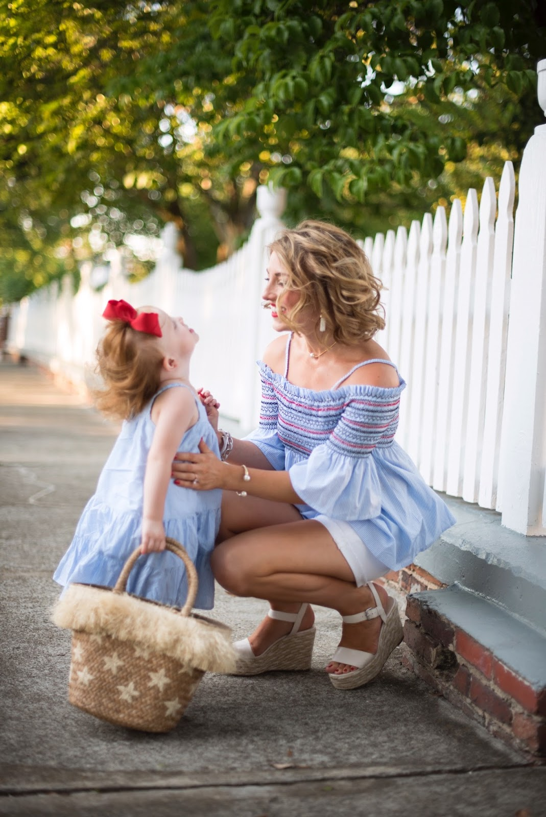 Mommy and me patriotic look - Click through to see more on Something Delightful Blog.
