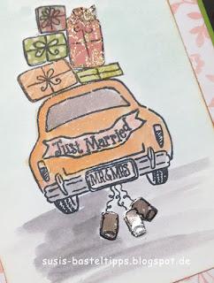 Paper Piecing Technik (Papierstückeln) - ein Videotutorial mit dem Stempelset Wonderful life (Hochzeitskarte und Weihnachtskarte) Geschenke, Flitterwochen von unabhängiger Demonstratorin in Coburg