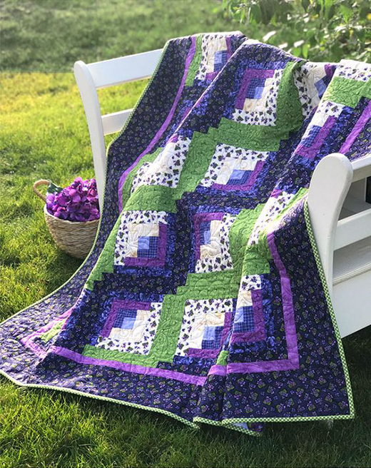 Curvy Log Cabin Quilt Free Tutorial