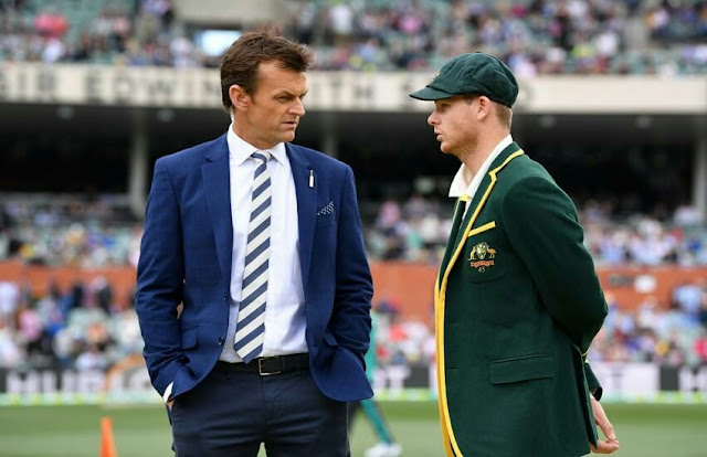 Steven Smith and Adam Gilchrist Australia