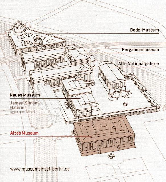 Mapa da Ilha dos Museus, Berlim, Alemanha