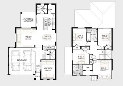 plano de casa con patio central planos de casa campo o playa