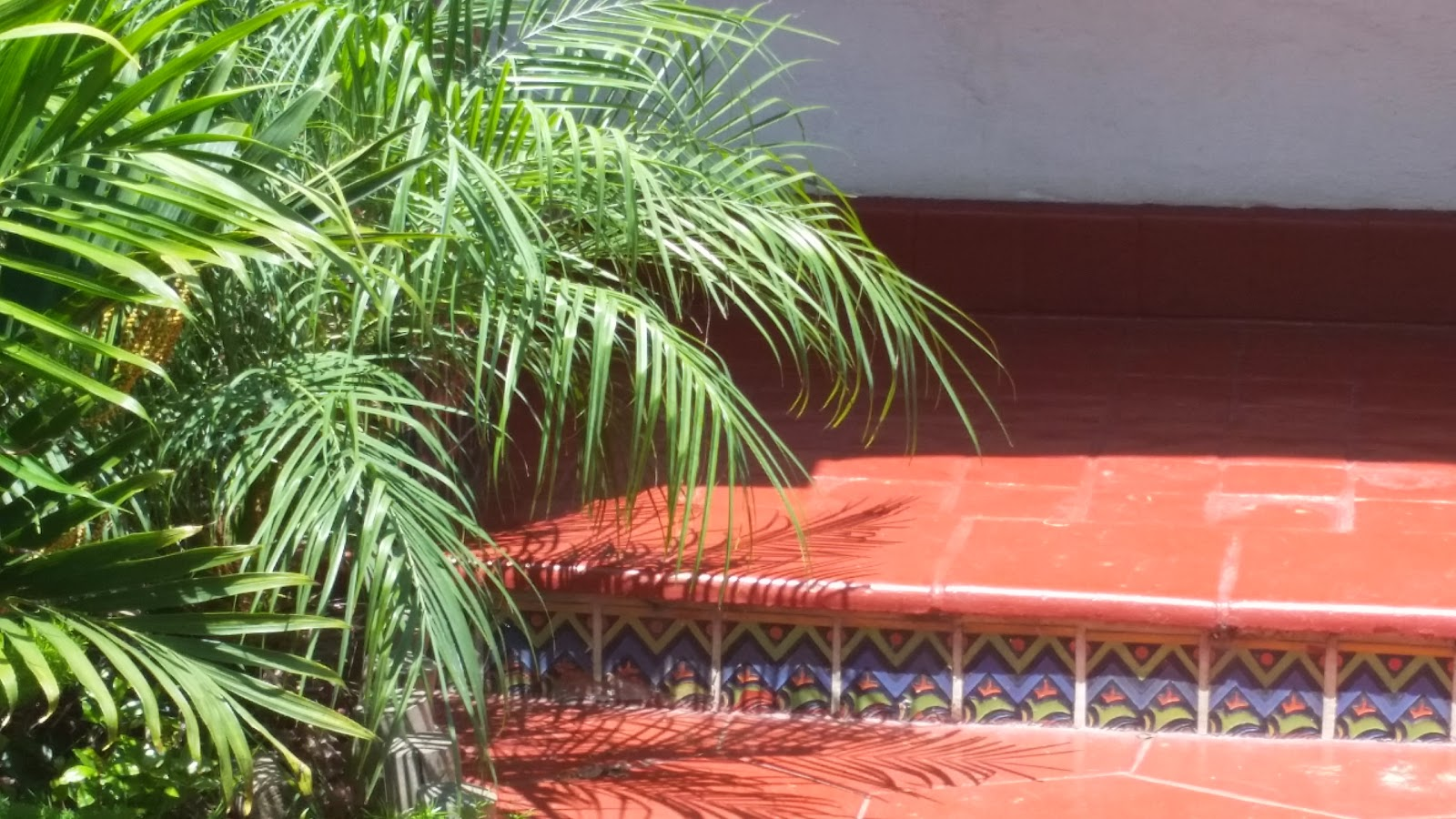 Brightly colored tile are influences of Spanish Revival architecture