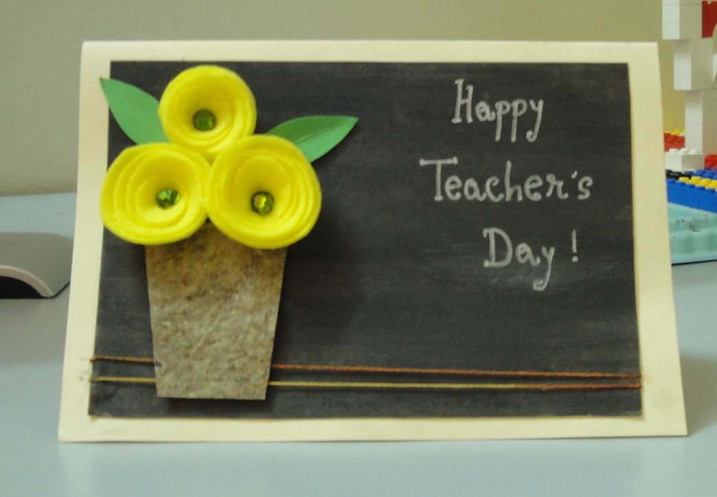 Teachers Day Card Making Ideas Part - 18: Greeting Cards Ideas For Teachers Day