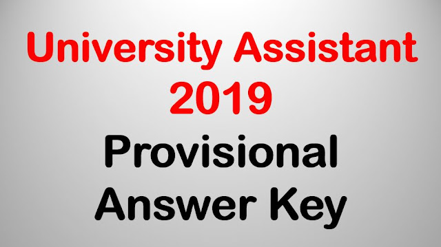 University Assistant 2019 - PSC Provisional Answer Key