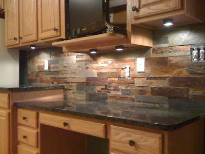 Kitchen backsplash outlines