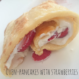 [Food] Ofenpfannkuchen mit Erdbeeren // Oven-pancakes with strawberries