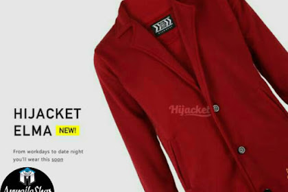 HIJACKET ELMA MAROON CHERRY ORIGINAL HIJABER MODIS FORMAL DESIGN