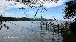 Chinese fishing nets overlooking Kochi harbor, Vypin