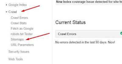 crawl sitemap