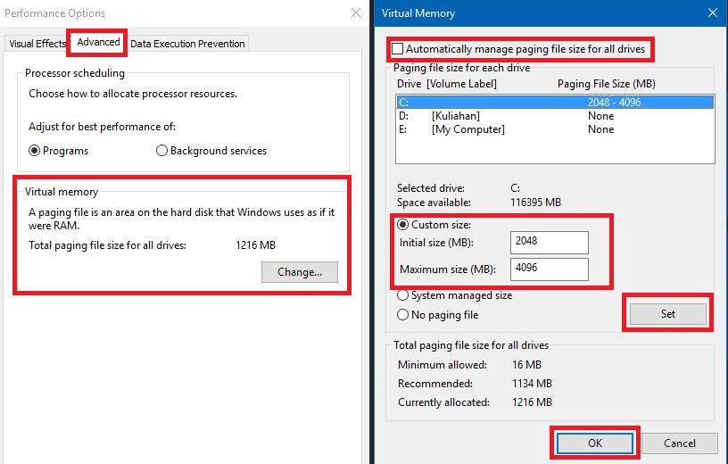 Cara Menambah Kapasitas Virtual Memory di Windows 10