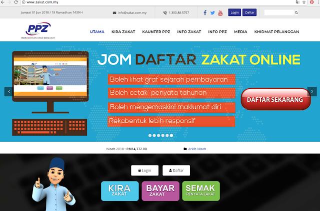 Bayar Zakat Secara Online