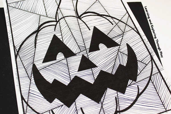 Pumpkin Line Art - Halloween Ideas for Kids